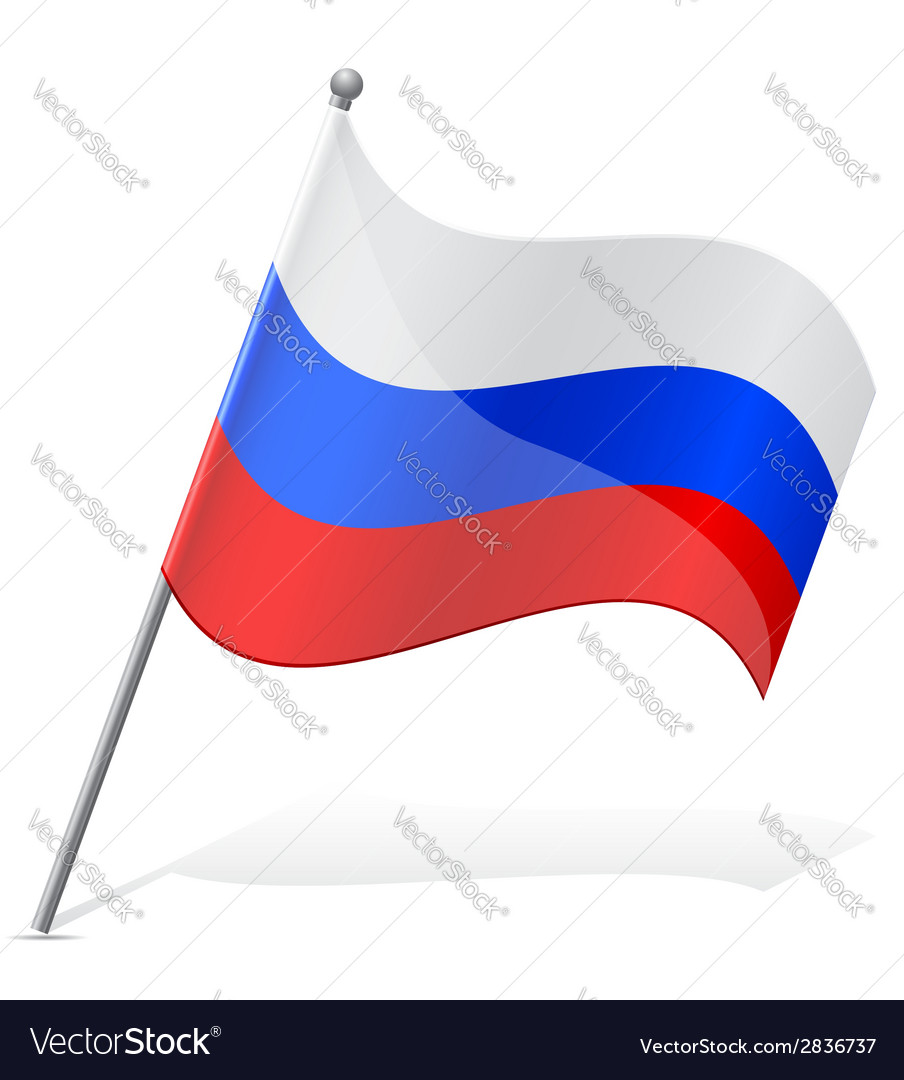 Flag of russian vector | Price: 1 Credit (USD $1)