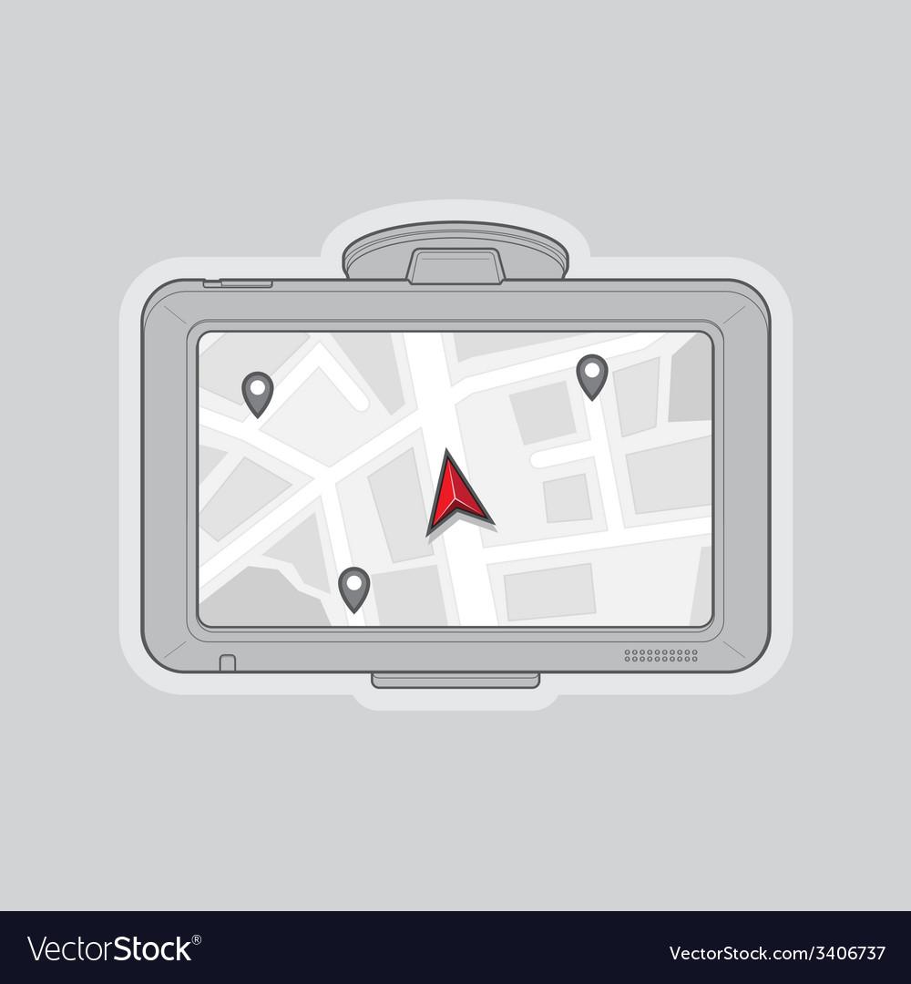 Gps navigator vector | Price: 1 Credit (USD $1)