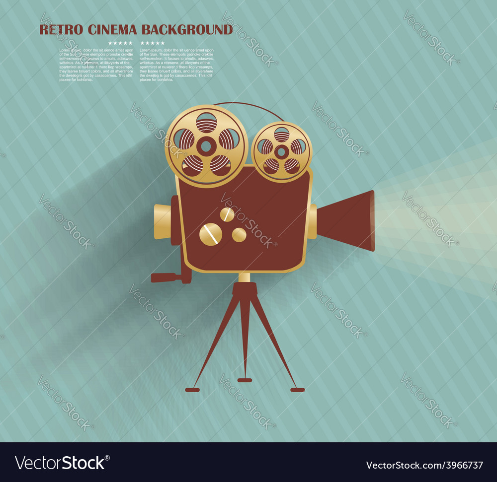 Grunge retro cinema poster vector | Price: 3 Credit (USD $3)