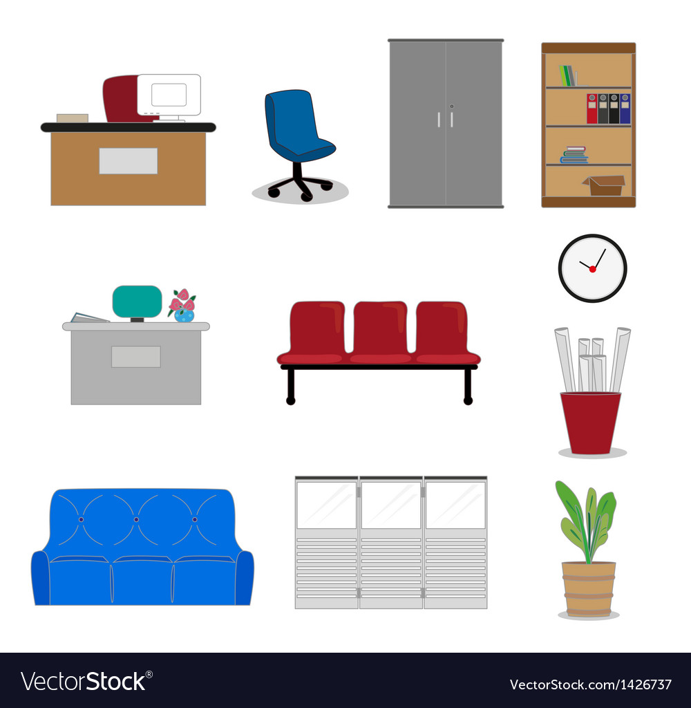 Office furnitures vector | Price: 1 Credit (USD $1)