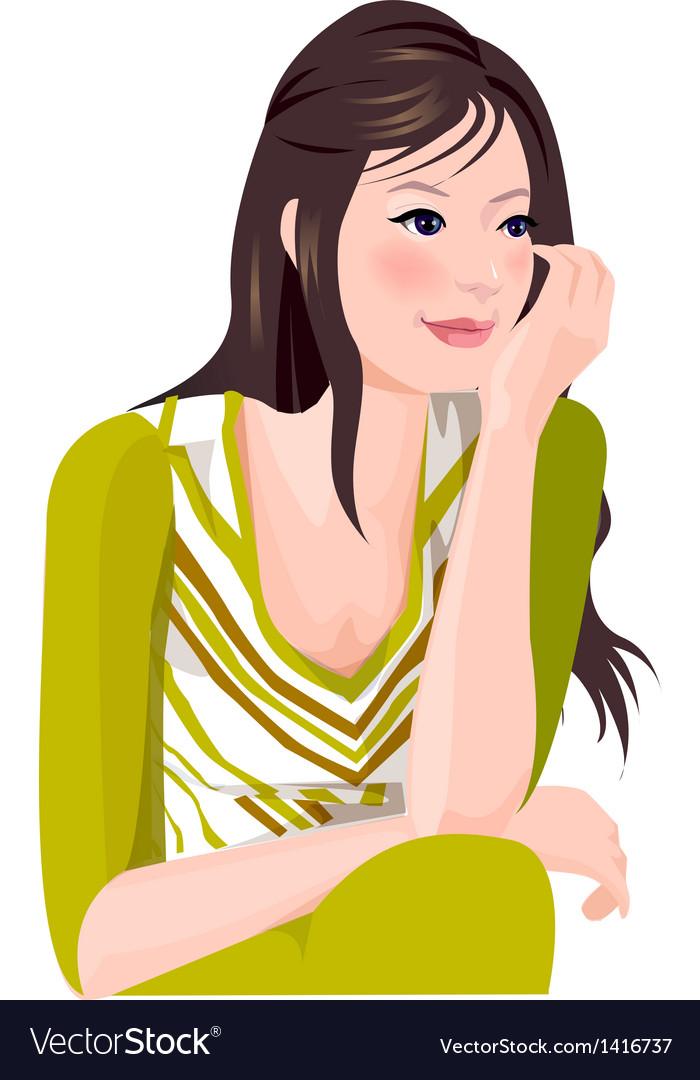 Portrait woman vector | Price: 1 Credit (USD $1)
