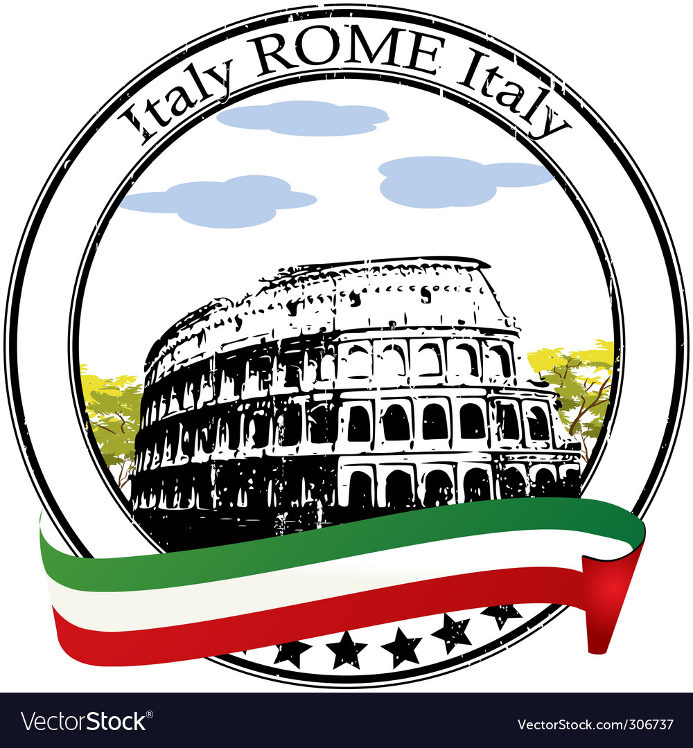 Rome stamp vector | Price: 1 Credit (USD $1)