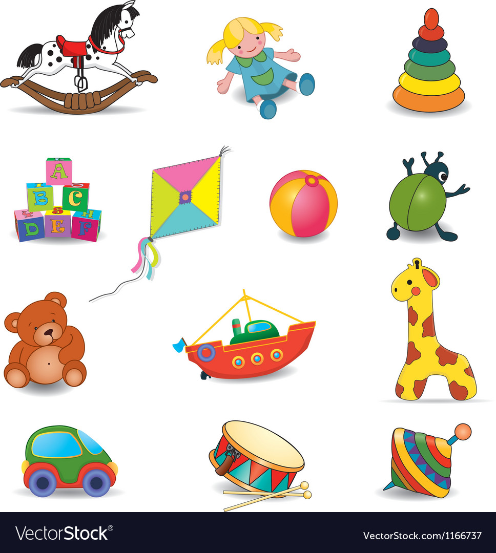 Set of babys toys vector | Price: 1 Credit (USD $1)