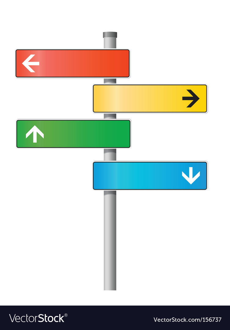 Signpost illustration vector | Price: 1 Credit (USD $1)