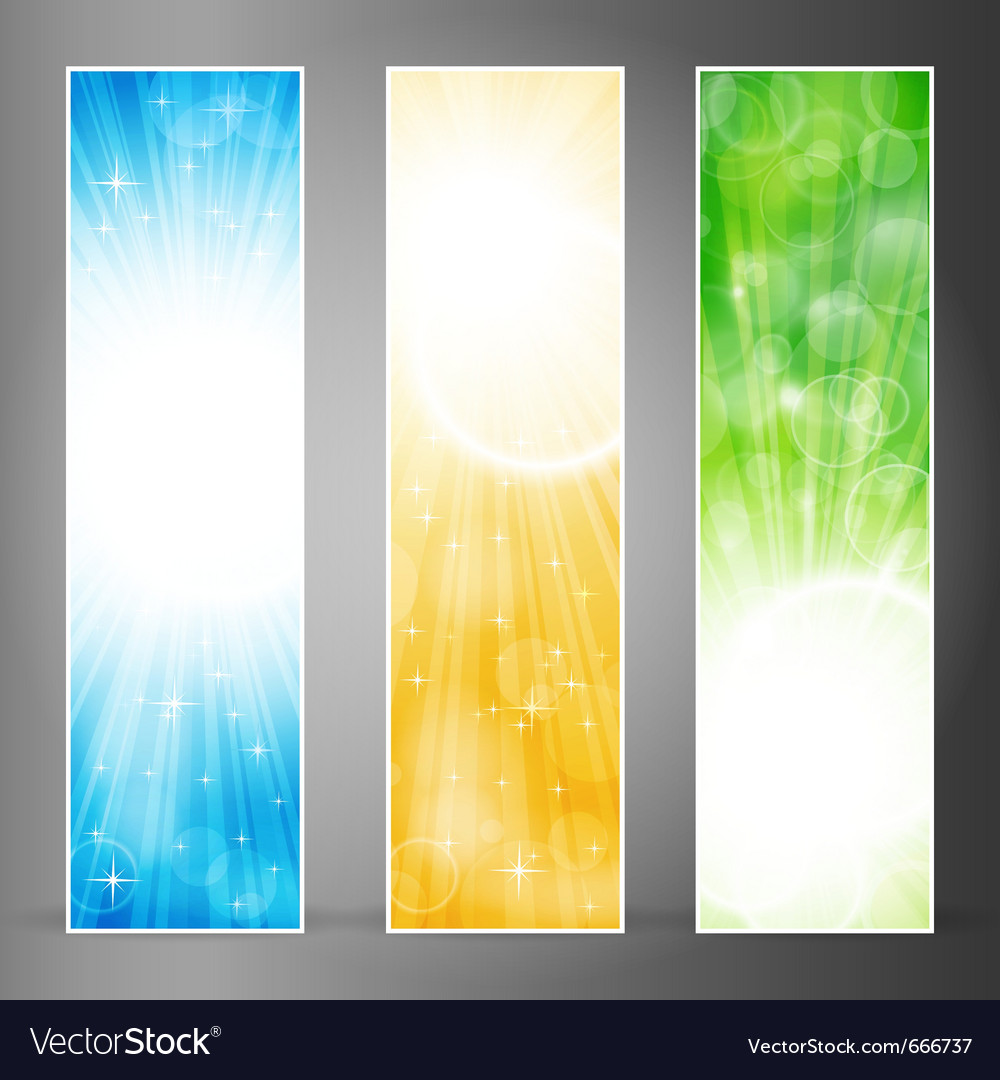 Vertical banner set vector | Price: 1 Credit (USD $1)