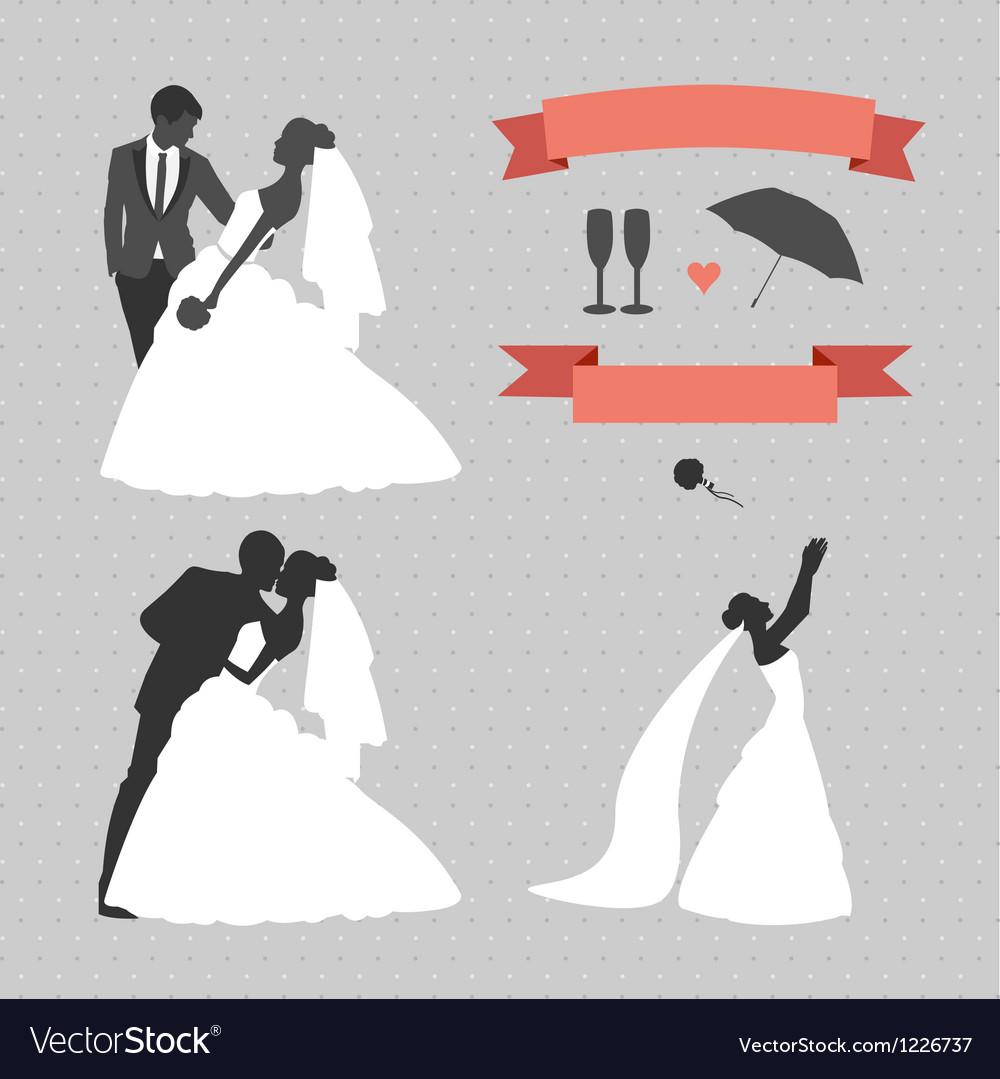 Wedding set of design elements vector | Price: 1 Credit (USD $1)
