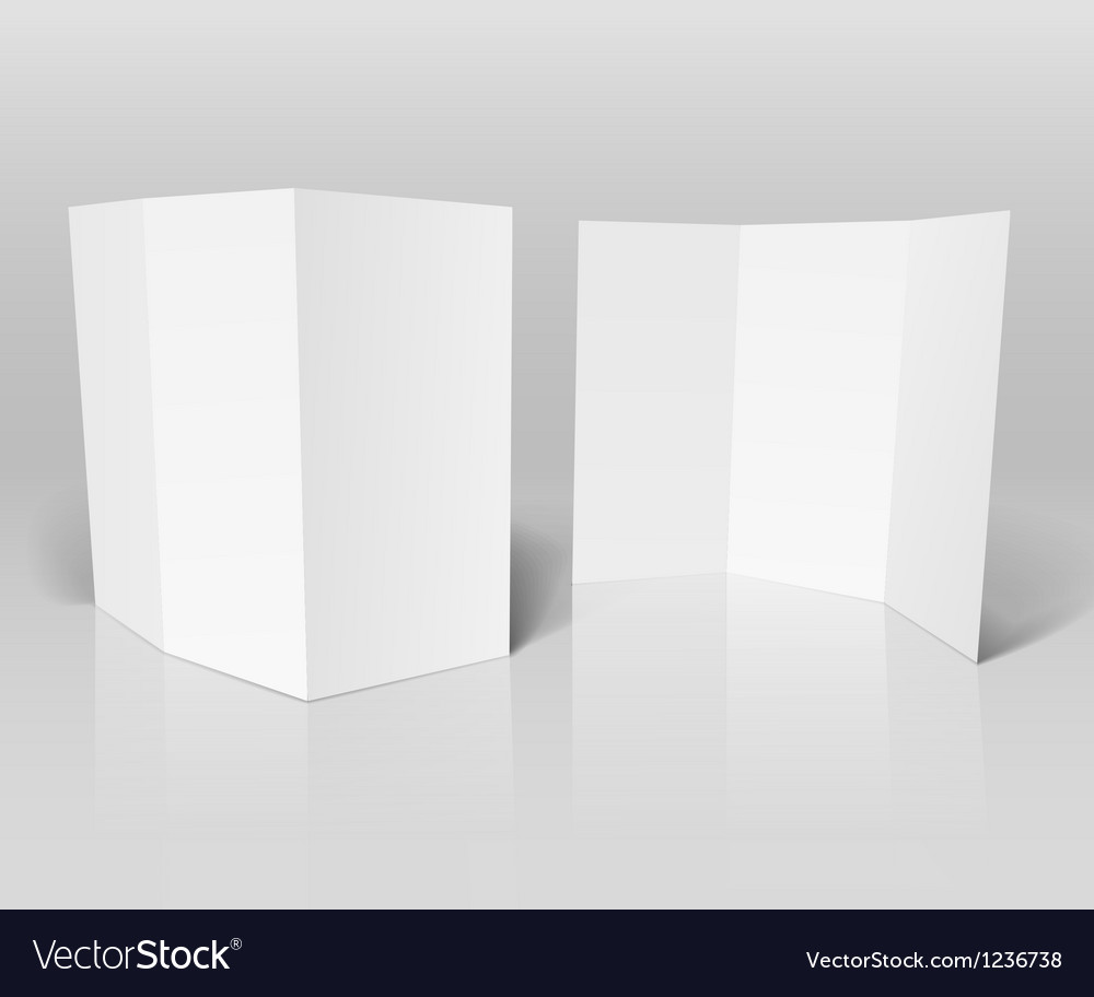 Blank white booklet template vector | Price: 1 Credit (USD $1)
