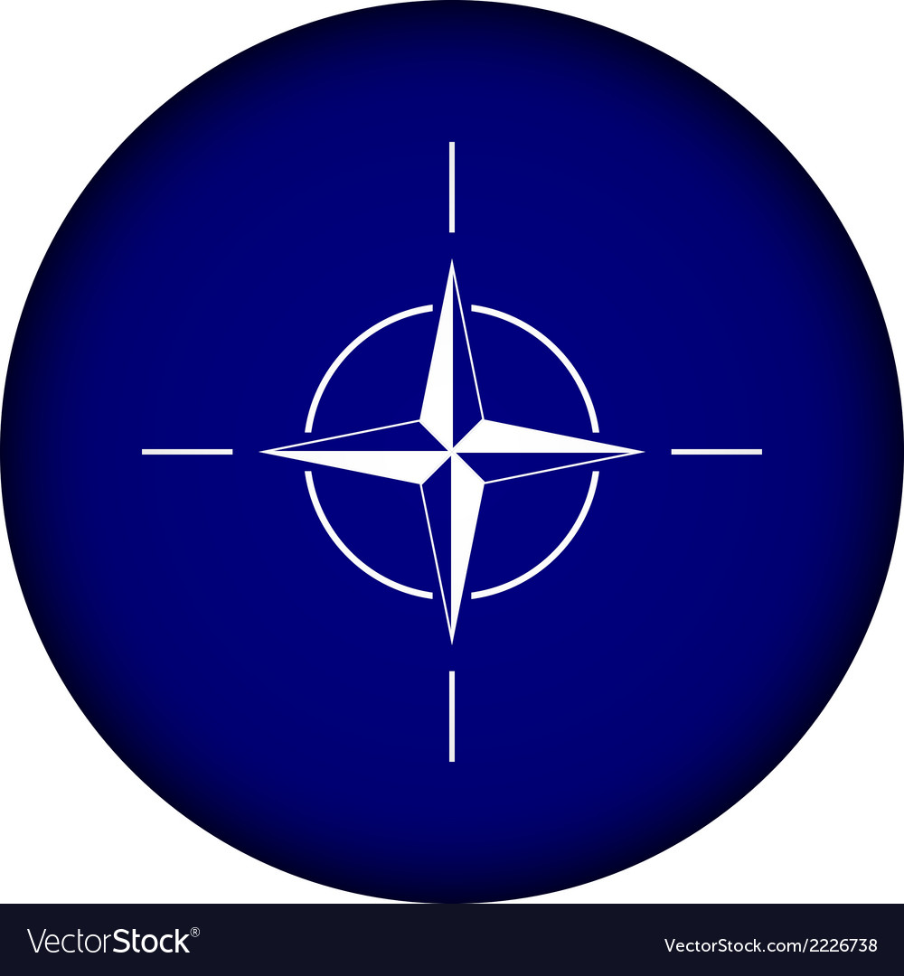 Button with flag of nato vector | Price: 1 Credit (USD $1)