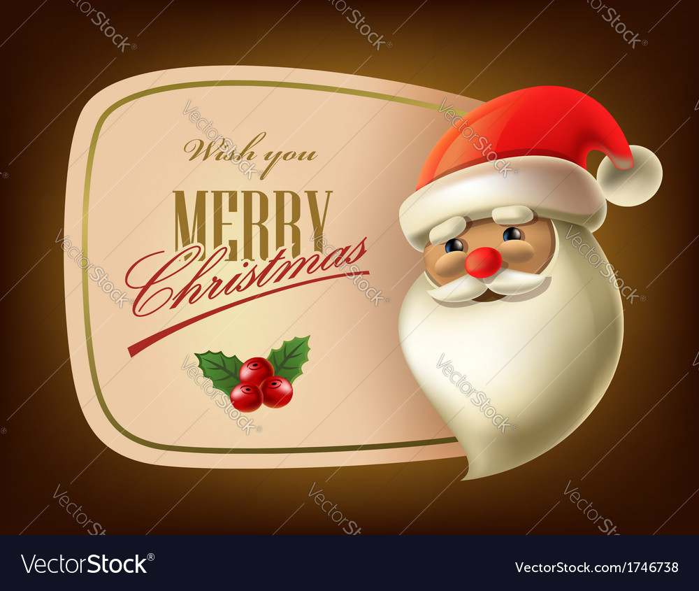 Christmas card with santa vector | Price: 1 Credit (USD $1)