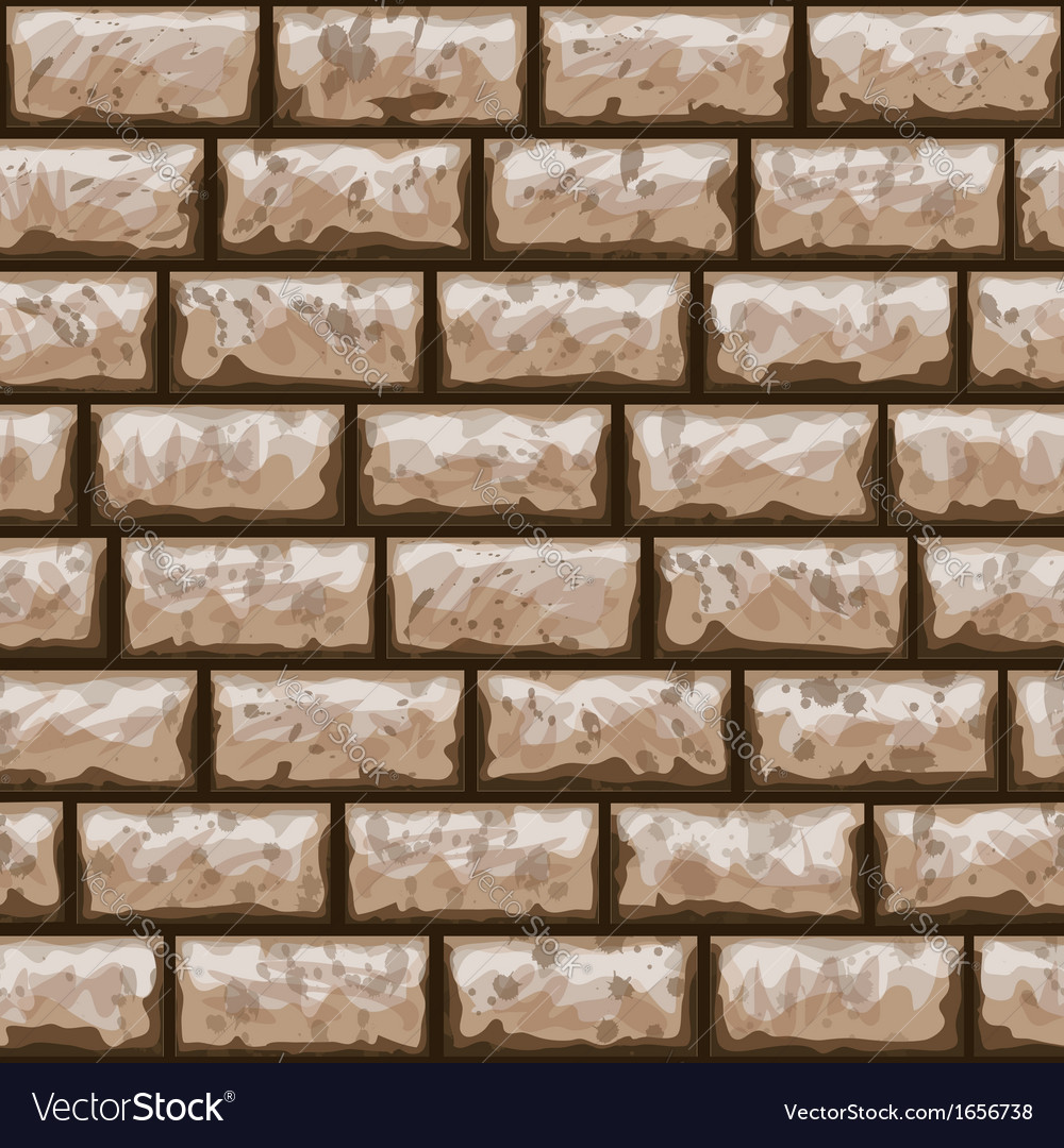 Dirty brick wall seamless pattern vector | Price: 1 Credit (USD $1)