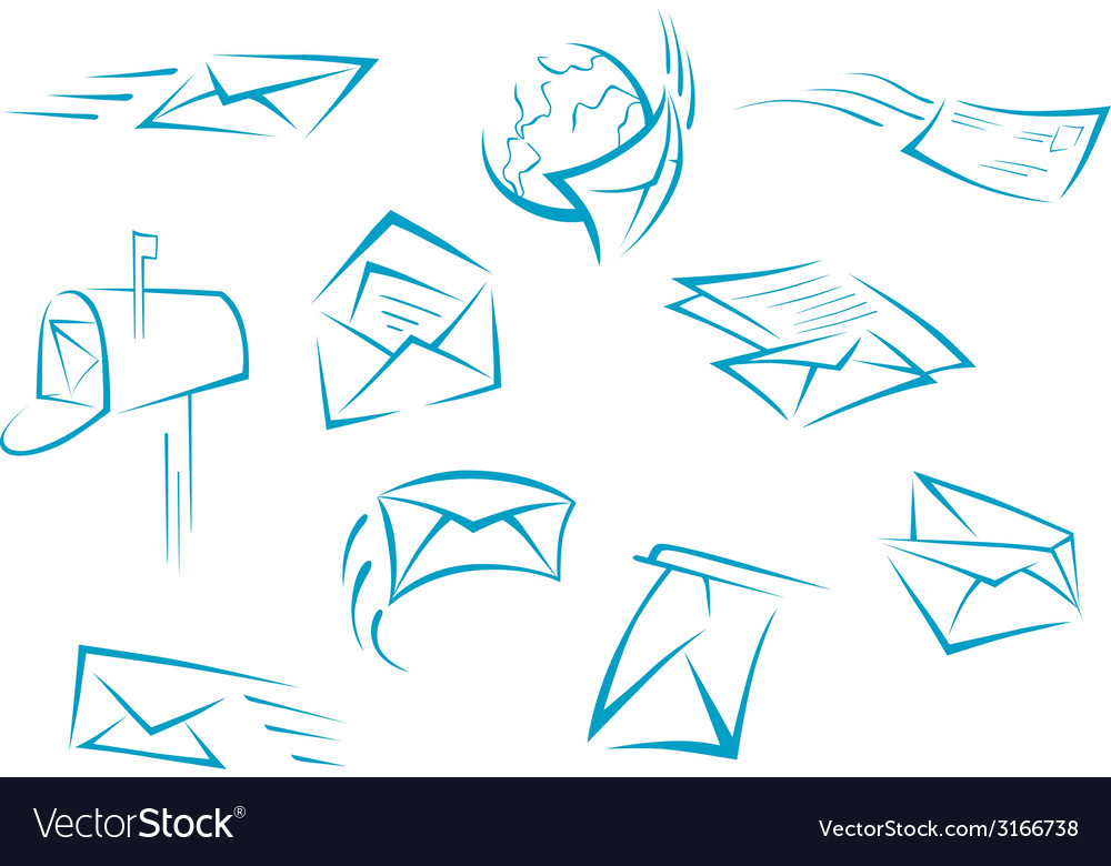 Envelope and mail symbols vector | Price: 1 Credit (USD $1)