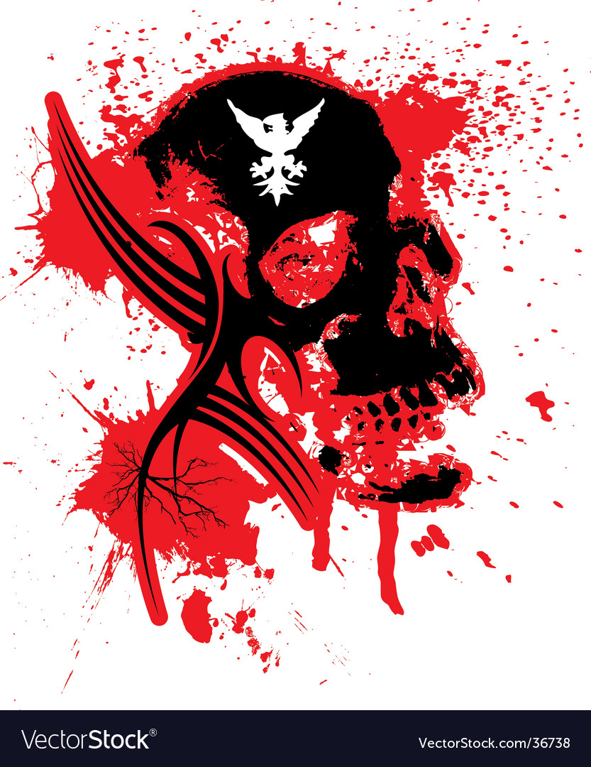Explode skull vector | Price: 1 Credit (USD $1)