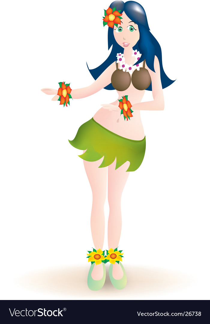 Hula dancer vector | Price: 1 Credit (USD $1)