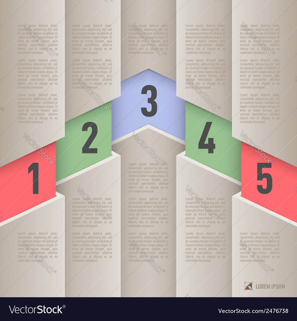 Paper style infographics vector | Price: 1 Credit (USD $1)
