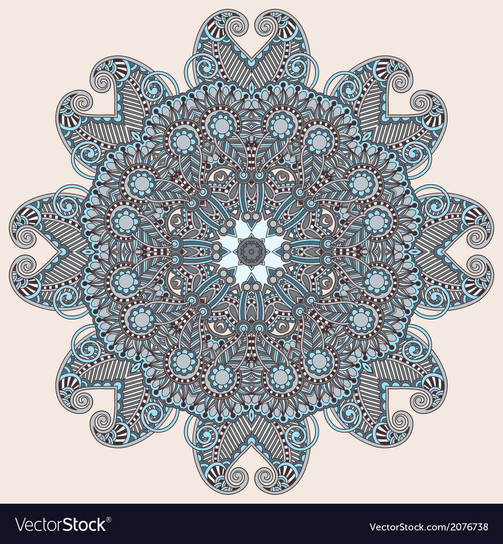 Round ornamental geometric doily pattern vector | Price: 1 Credit (USD $1)