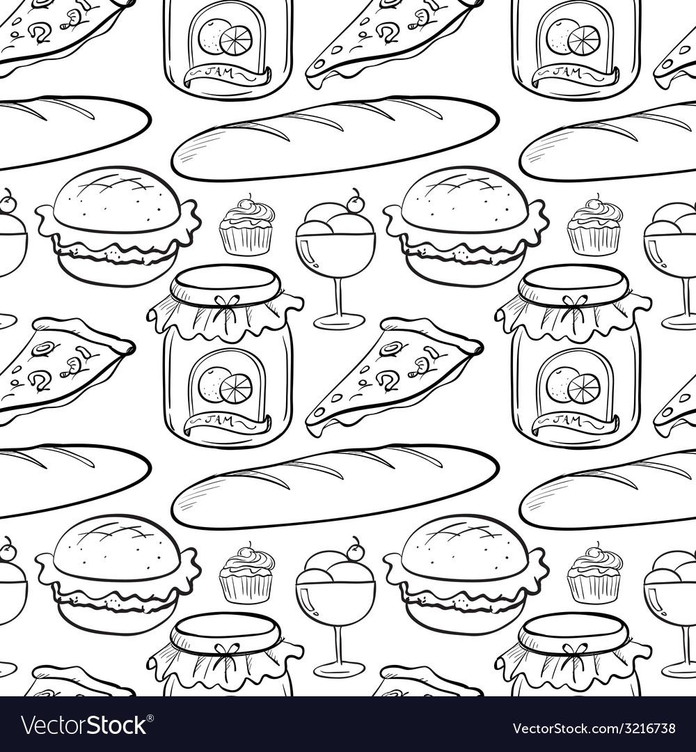 Seamless food vector | Price: 1 Credit (USD $1)