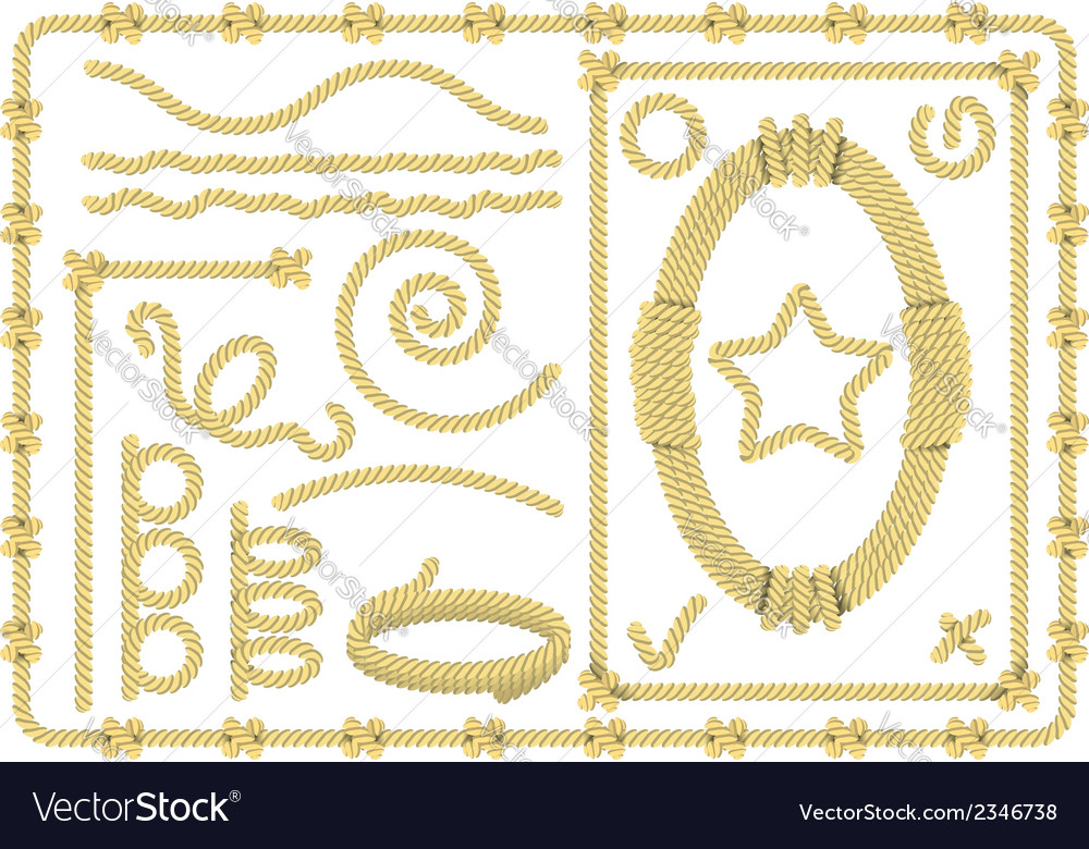 Set of rope elements vector | Price: 1 Credit (USD $1)