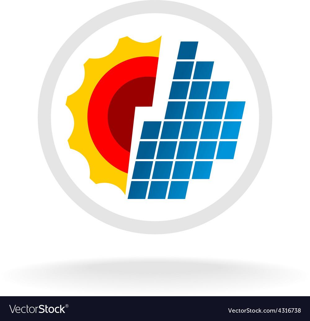 Solar energy logo vector | Price: 1 Credit (USD $1)