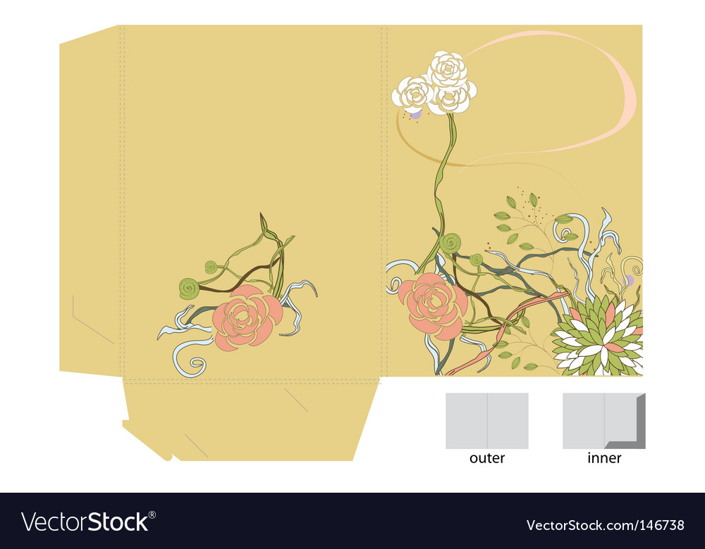 Template for decorative folder vector | Price: 1 Credit (USD $1)