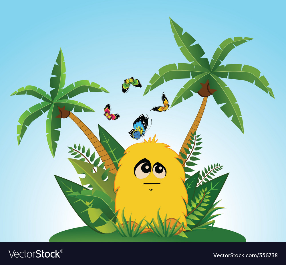 Tropical cartoon animal vector | Price: 1 Credit (USD $1)