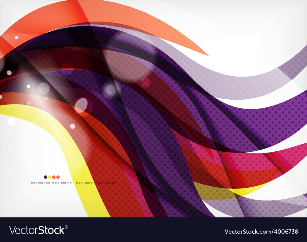 Yellow and purple color lines abstract background vector | Price: 1 Credit (USD $1)