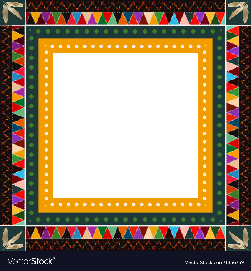 American indian border frame vector | Price: 1 Credit (USD $1)