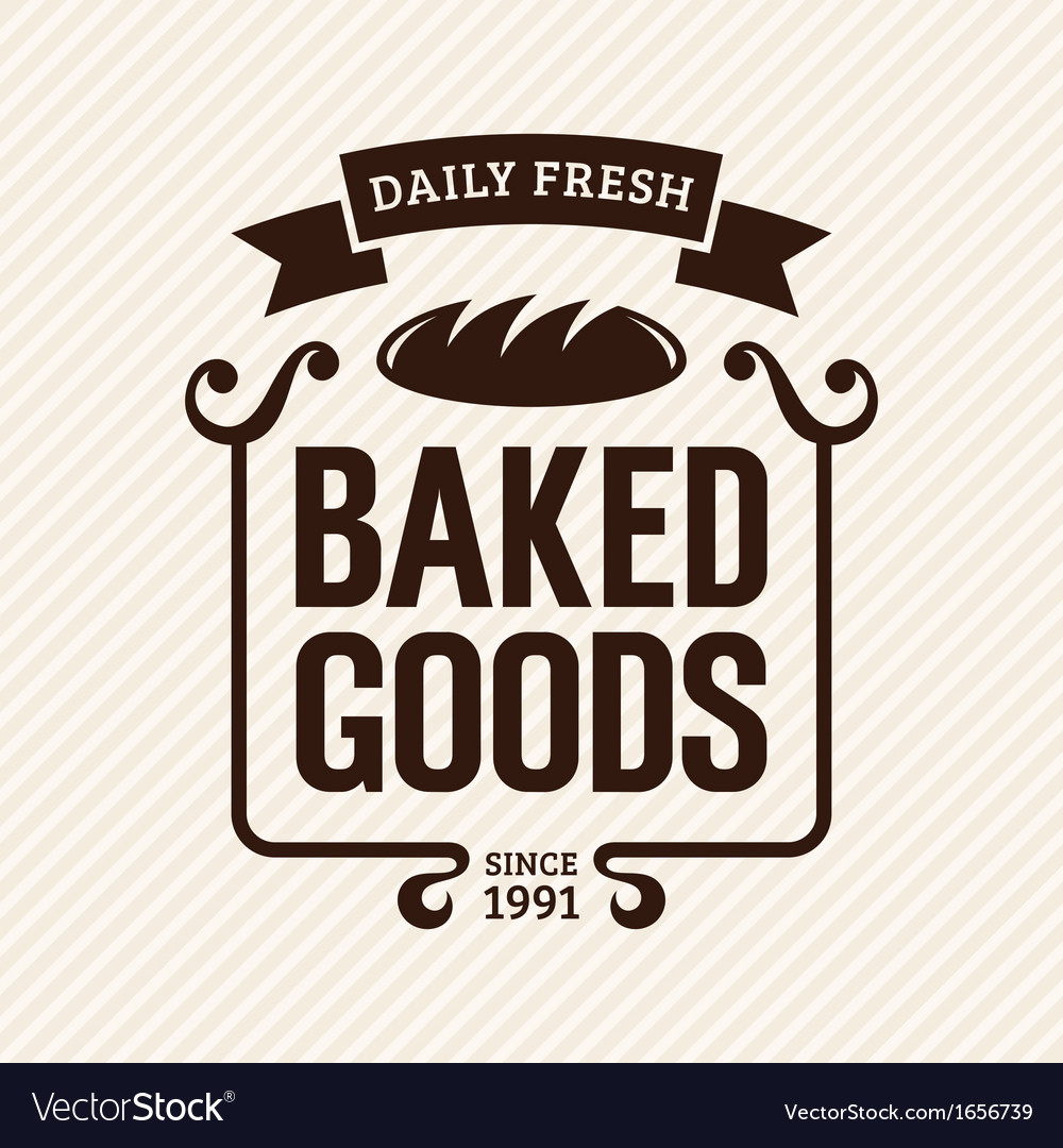 Baked goods vector | Price: 1 Credit (USD $1)