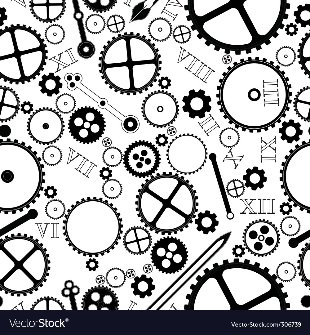 Clock pieces pattern vector | Price: 1 Credit (USD $1)
