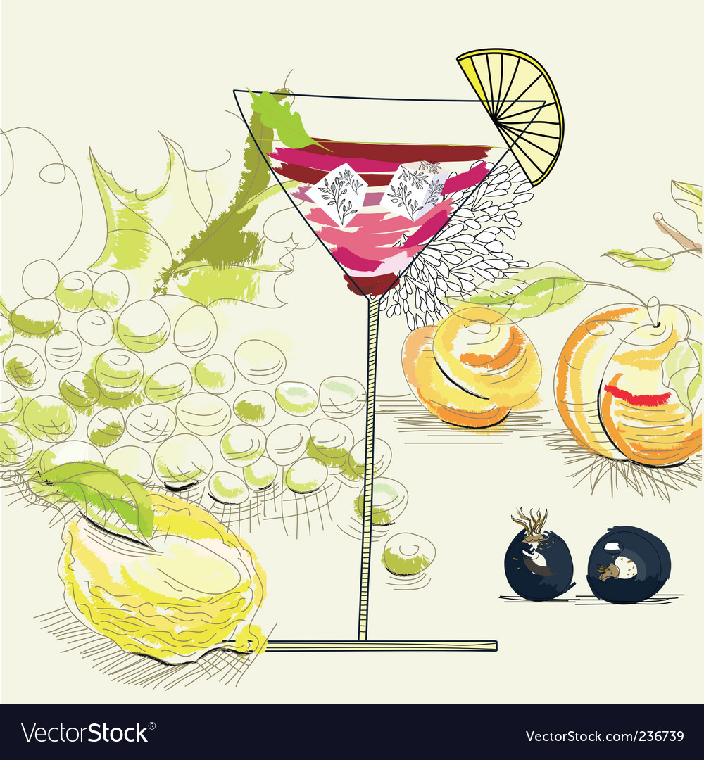 Fruit cocktail vector | Price: 3 Credit (USD $3)