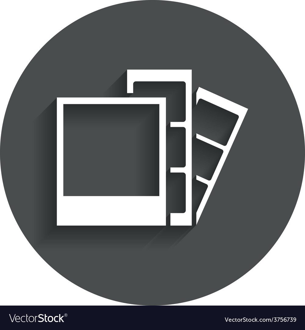 Photo frame template icon strips vector | Price: 1 Credit (USD $1)