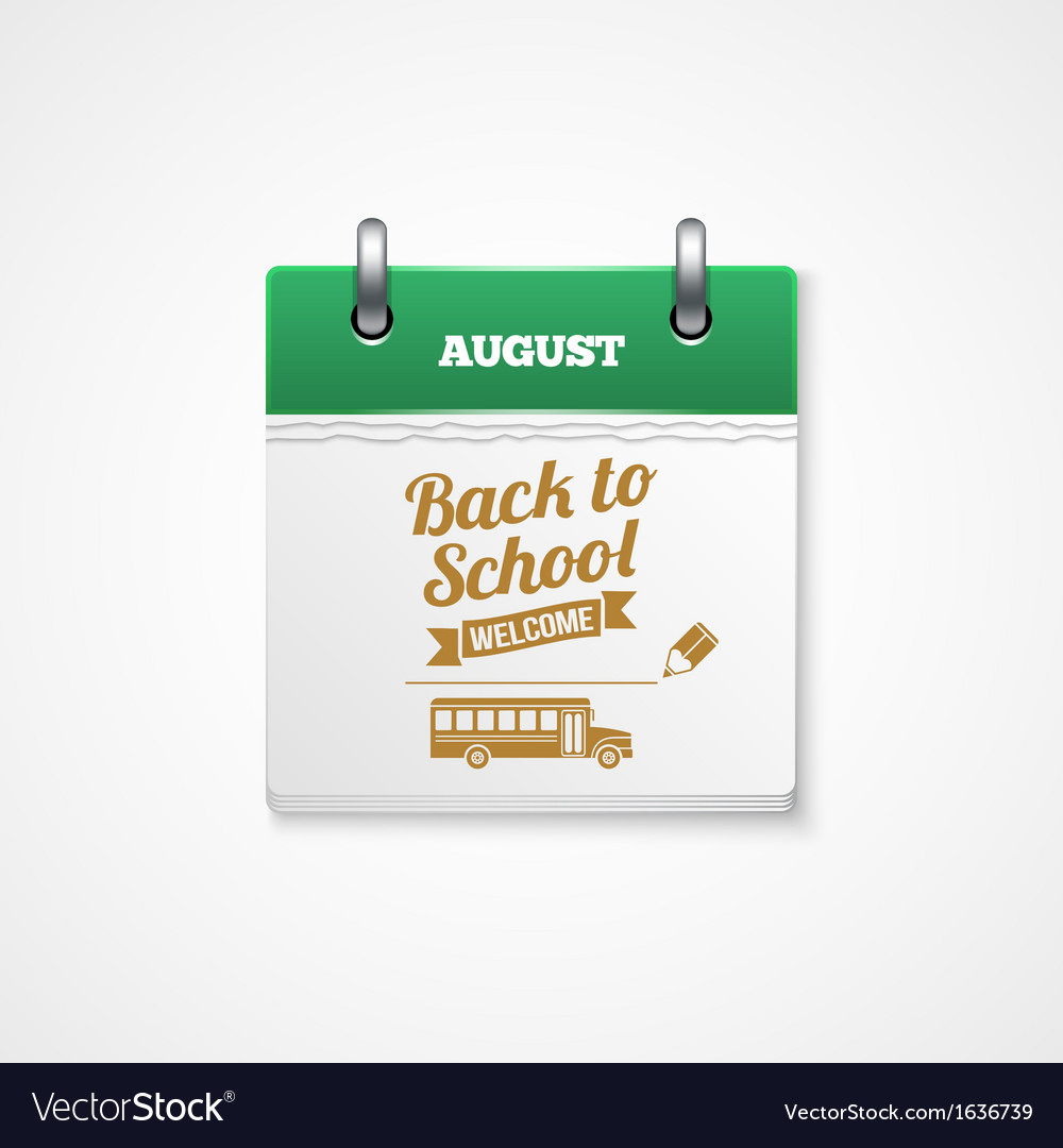 School calendar vector | Price: 1 Credit (USD $1)