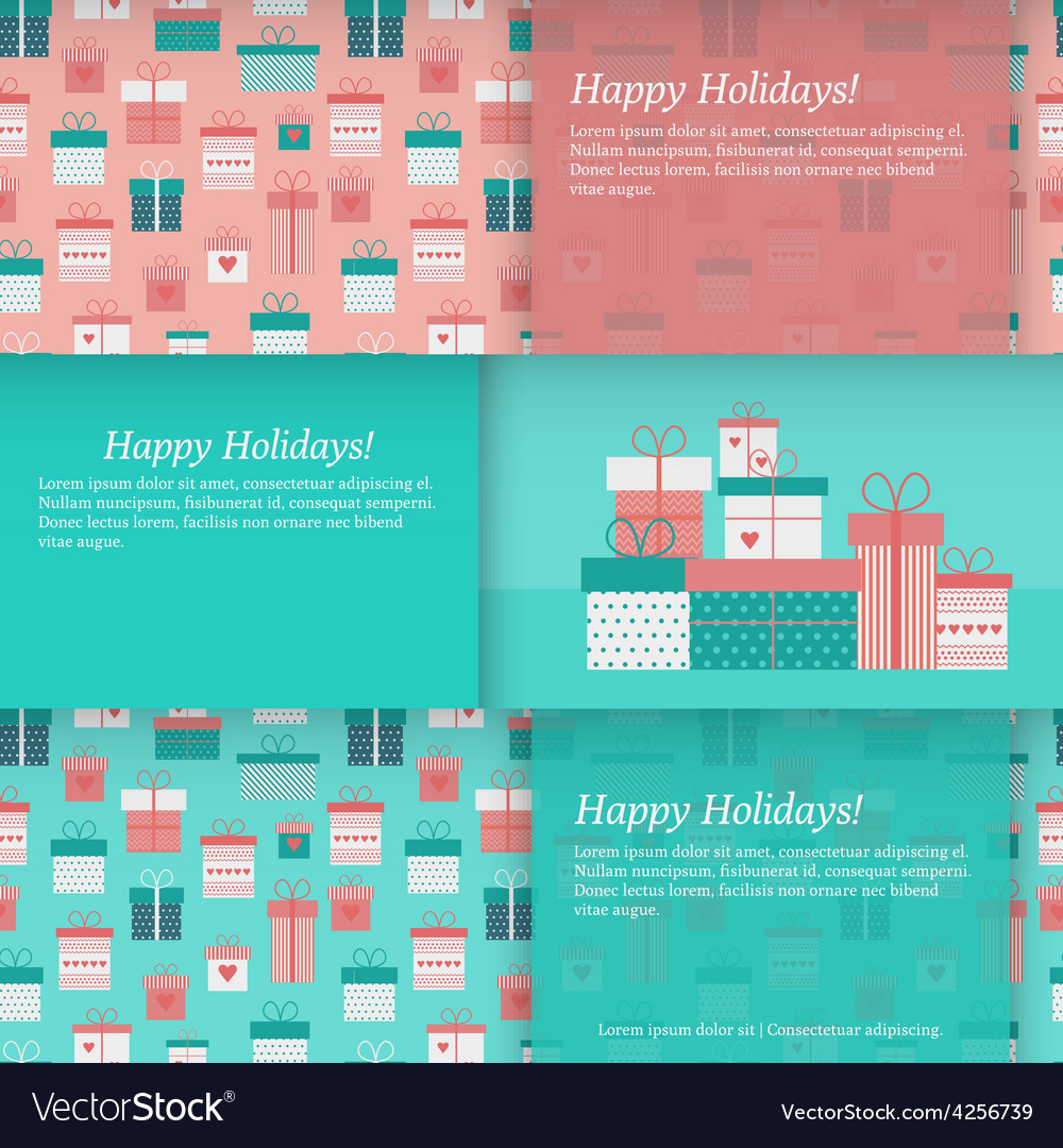 Set of banners with gift boxes vector | Price: 1 Credit (USD $1)