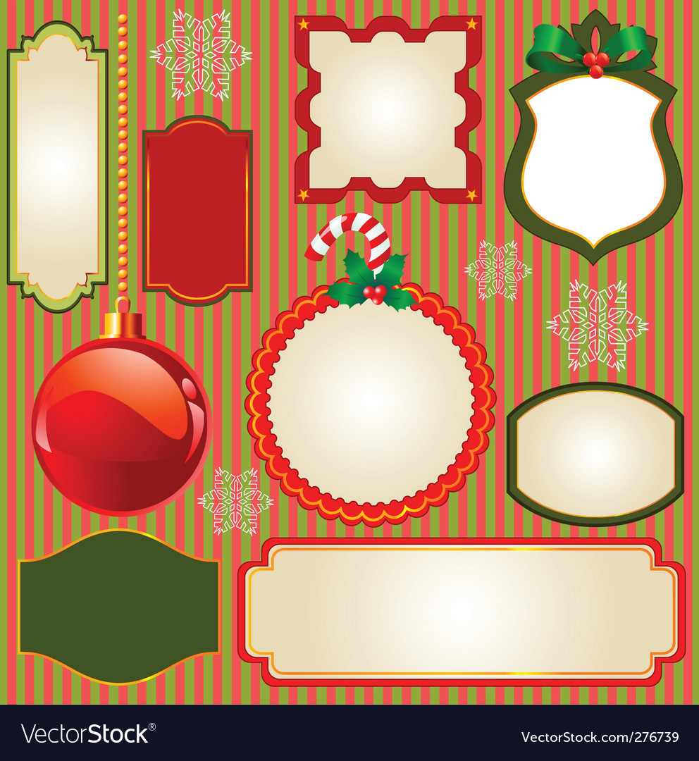 Set of christmas frames vector | Price: 1 Credit (USD $1)