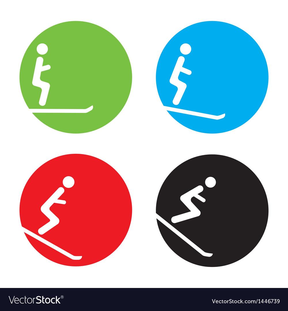 Ski icons vector | Price: 1 Credit (USD $1)