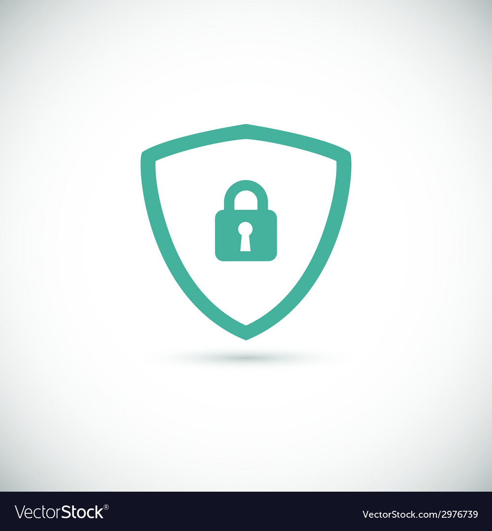 Web security icon shield vector