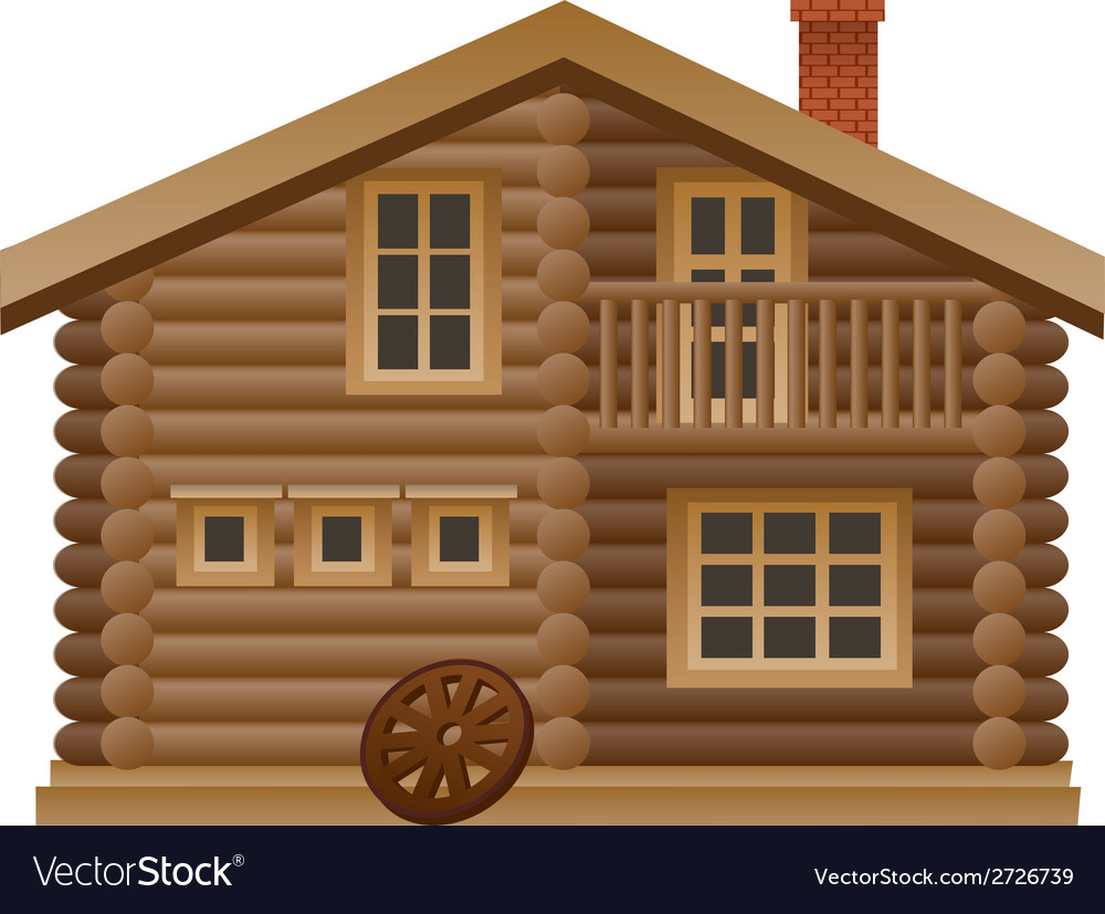 Wooden house vector | Price: 1 Credit (USD $1)