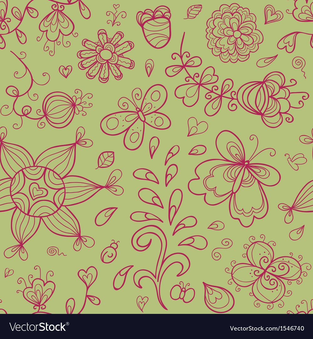 Abstract doodle floral shapes vector | Price: 1 Credit (USD $1)