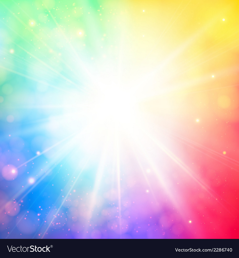 Bright shining sun with lens flare soft background vector | Price: 1 Credit (USD $1)