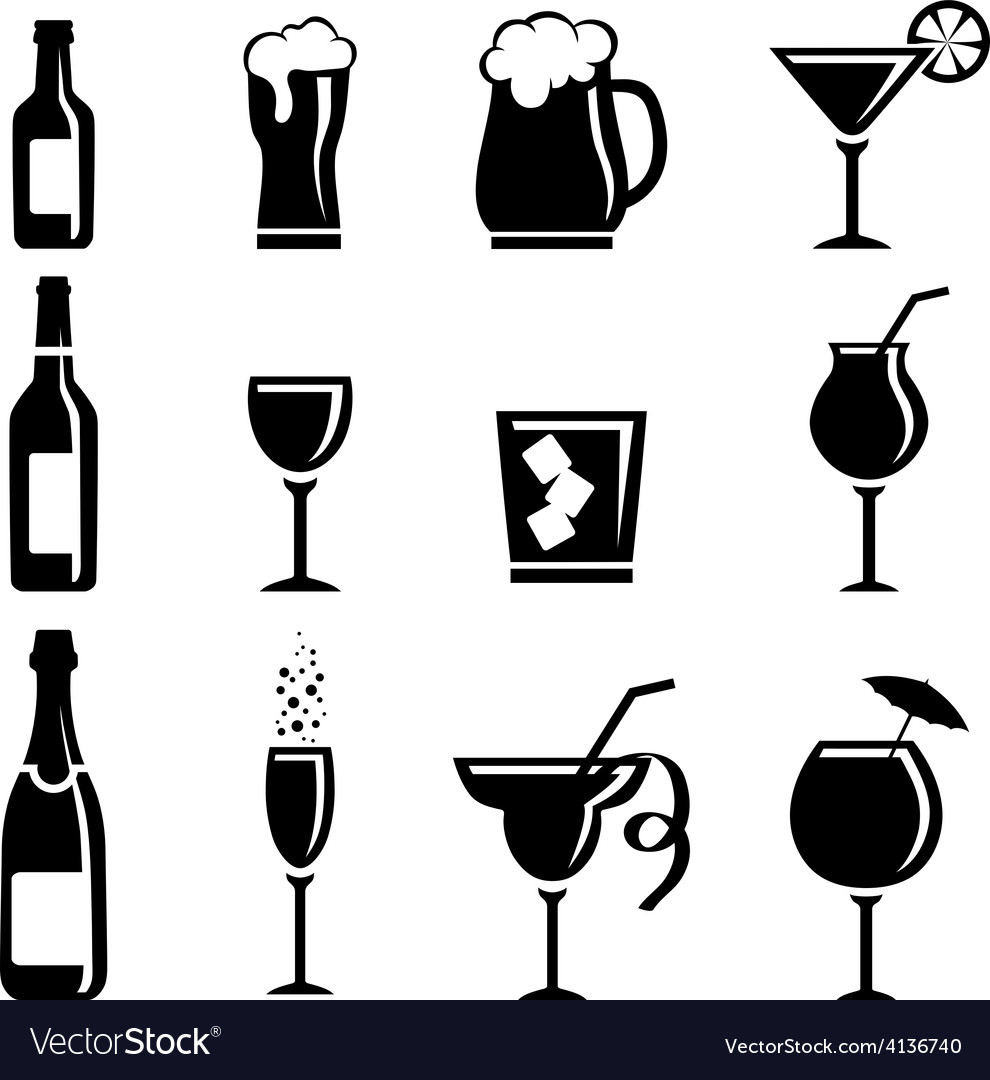 Collection of beverages vector | Price: 1 Credit (USD $1)