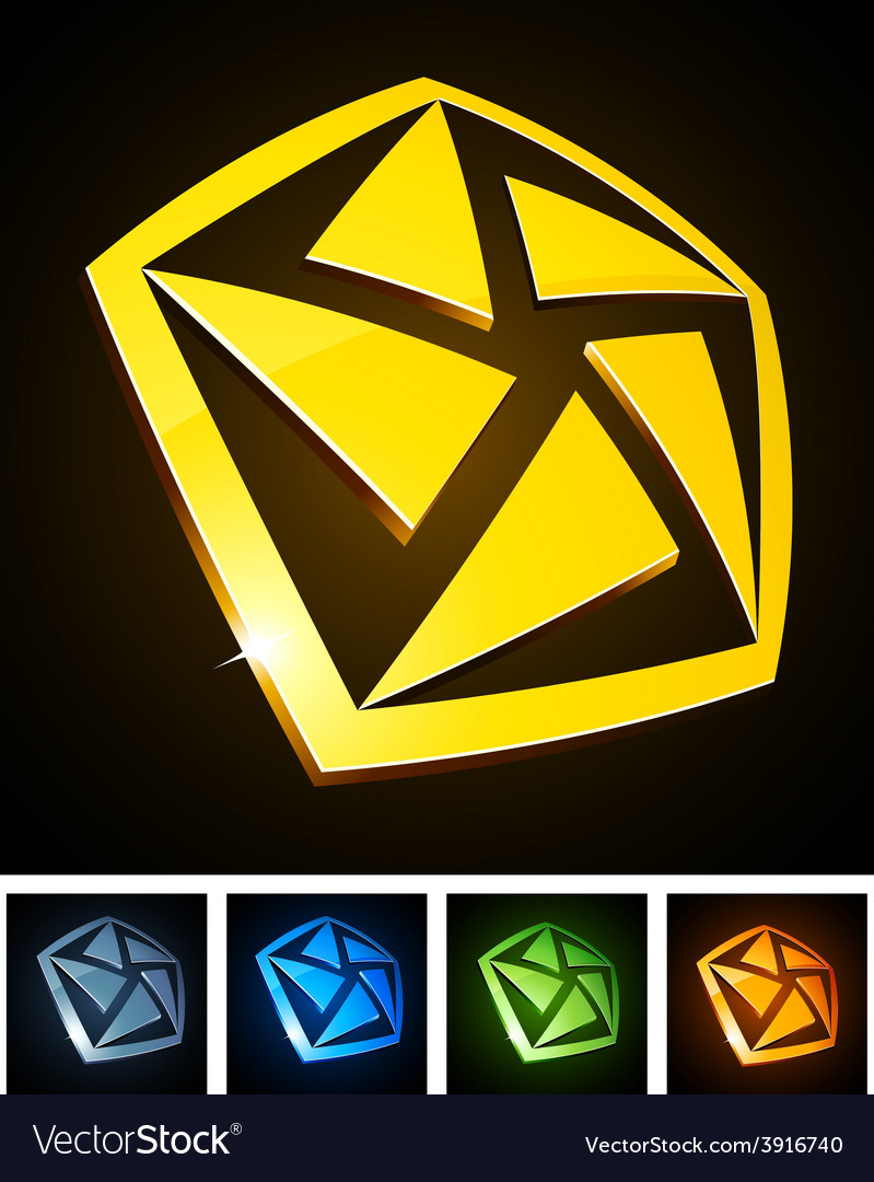 Color vibrant emblems vector | Price: 1 Credit (USD $1)