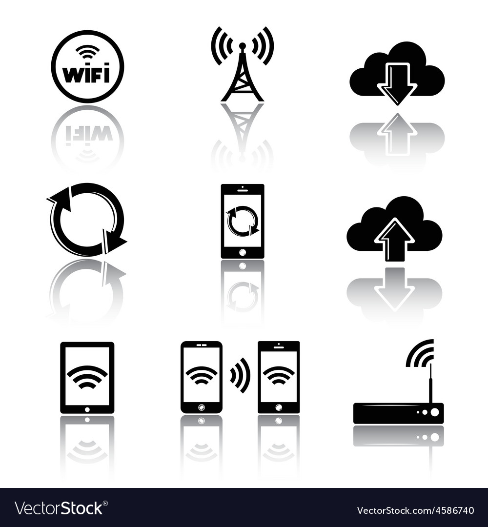 Computer related icons vector | Price: 1 Credit (USD $1)