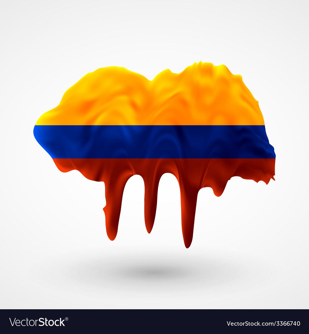 Flag of colombia painted colors vector | Price: 1 Credit (USD $1)