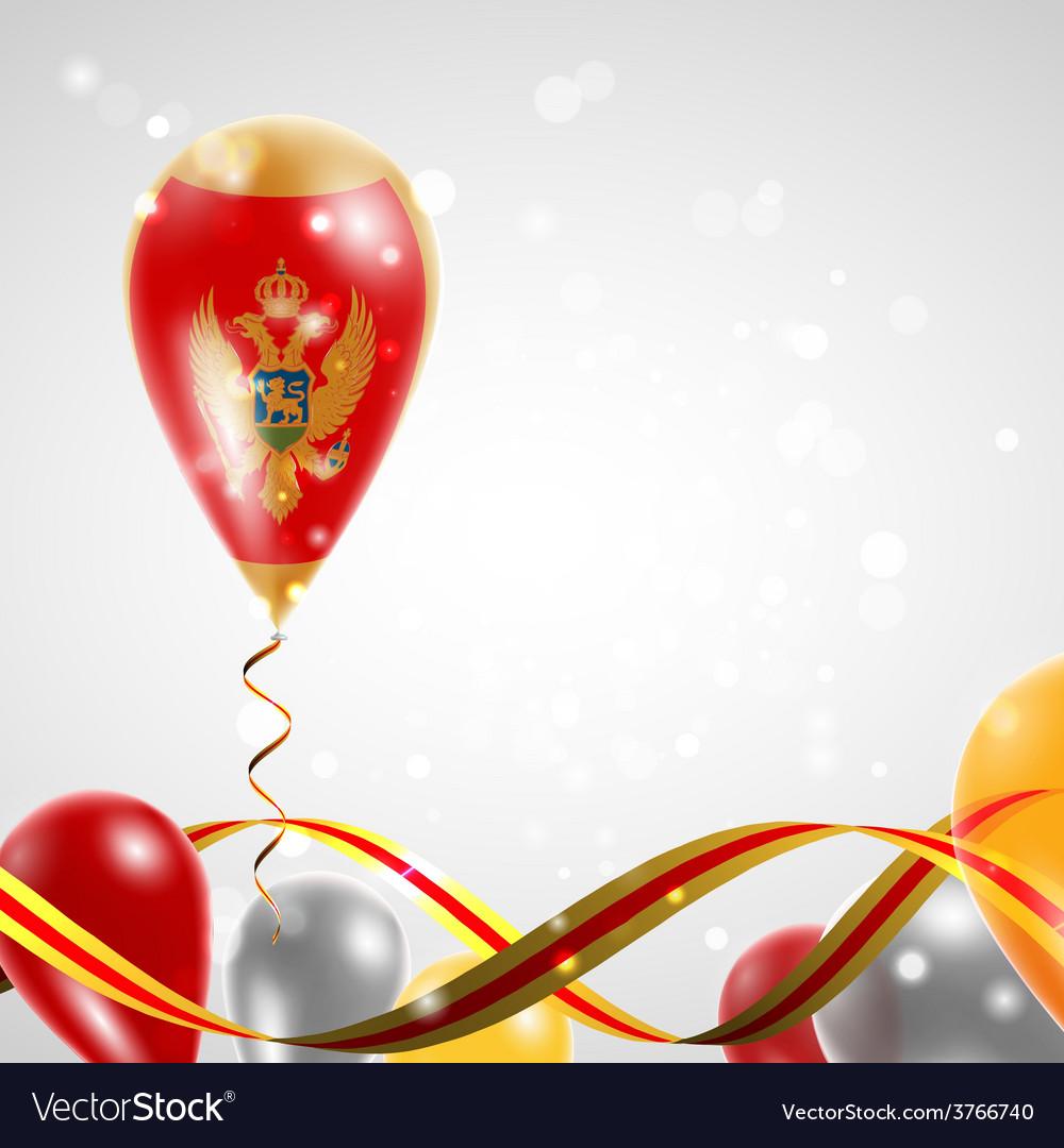 Flag of montenegro on balloon vector   Price: 3 Credit (USD $3)