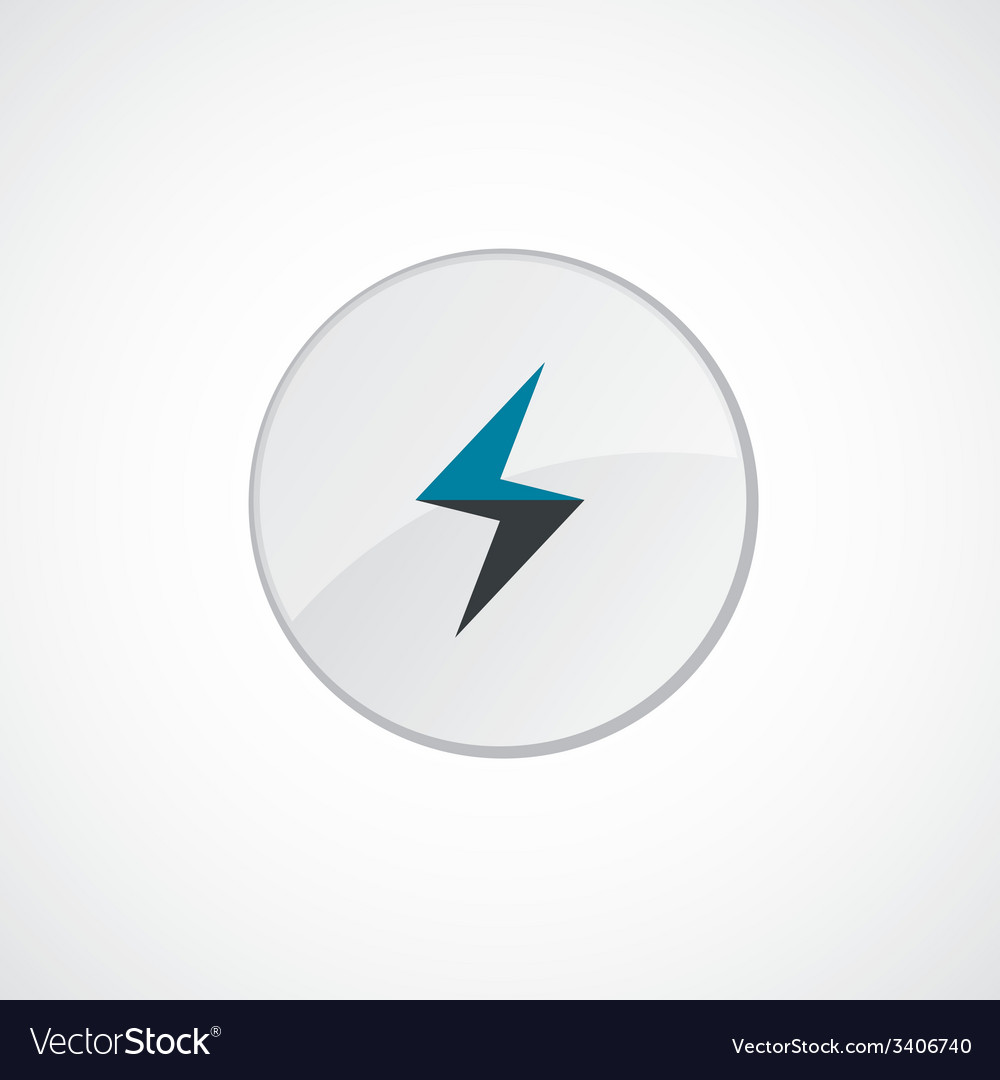 Lightning icon 2 colored vector | Price: 1 Credit (USD $1)