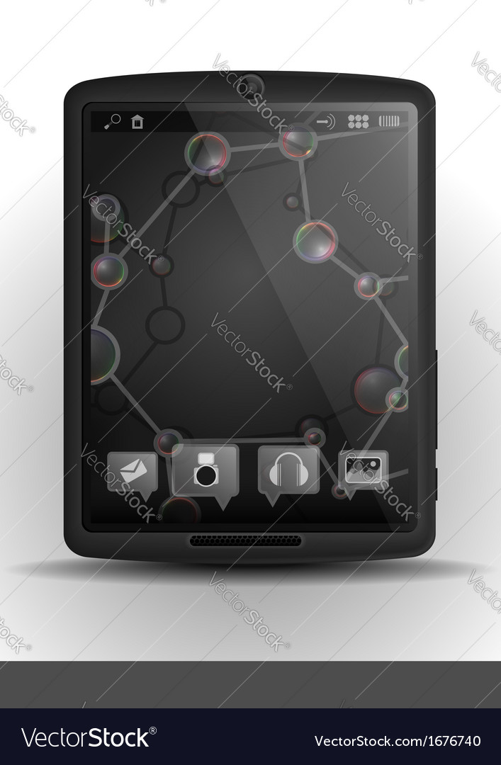 Tablet computer with dna molecule vector | Price: 1 Credit (USD $1)