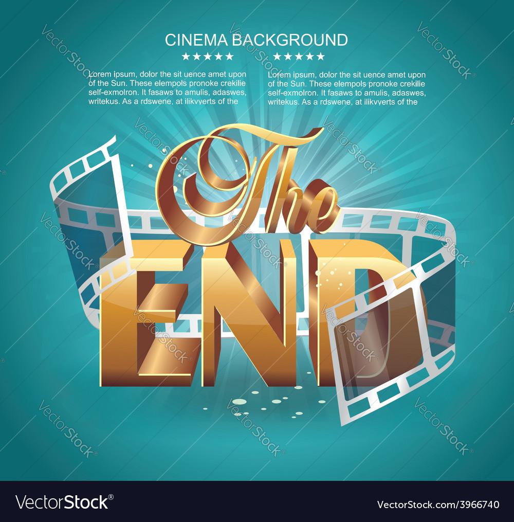 Vintage movie ending screen vector | Price: 3 Credit (USD $3)
