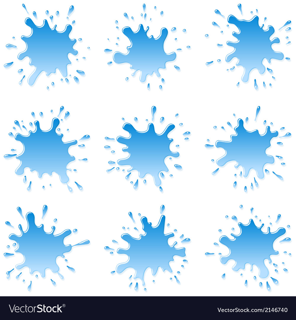 Water blots splashes set vector | Price: 1 Credit (USD $1)