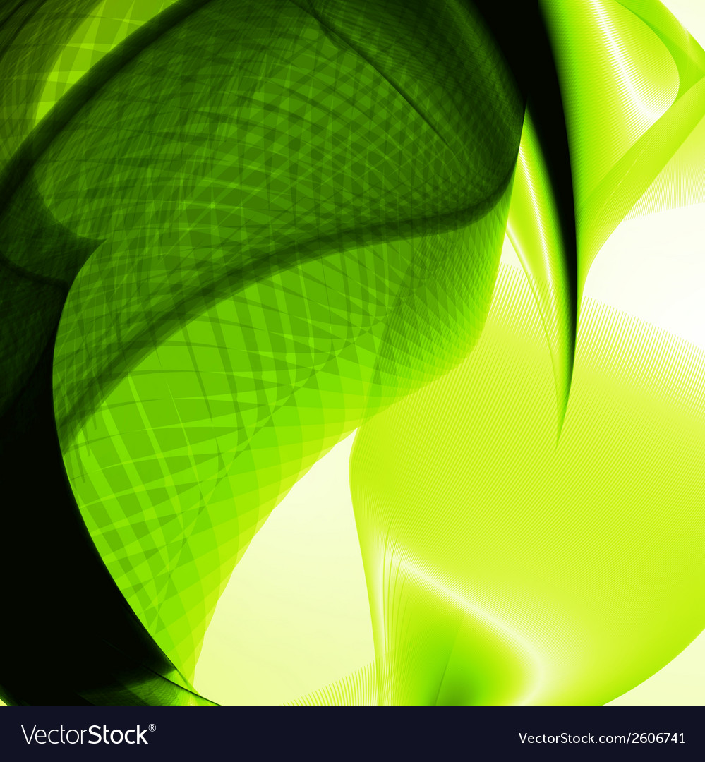 Abstract green wave background vector | Price: 1 Credit (USD $1)