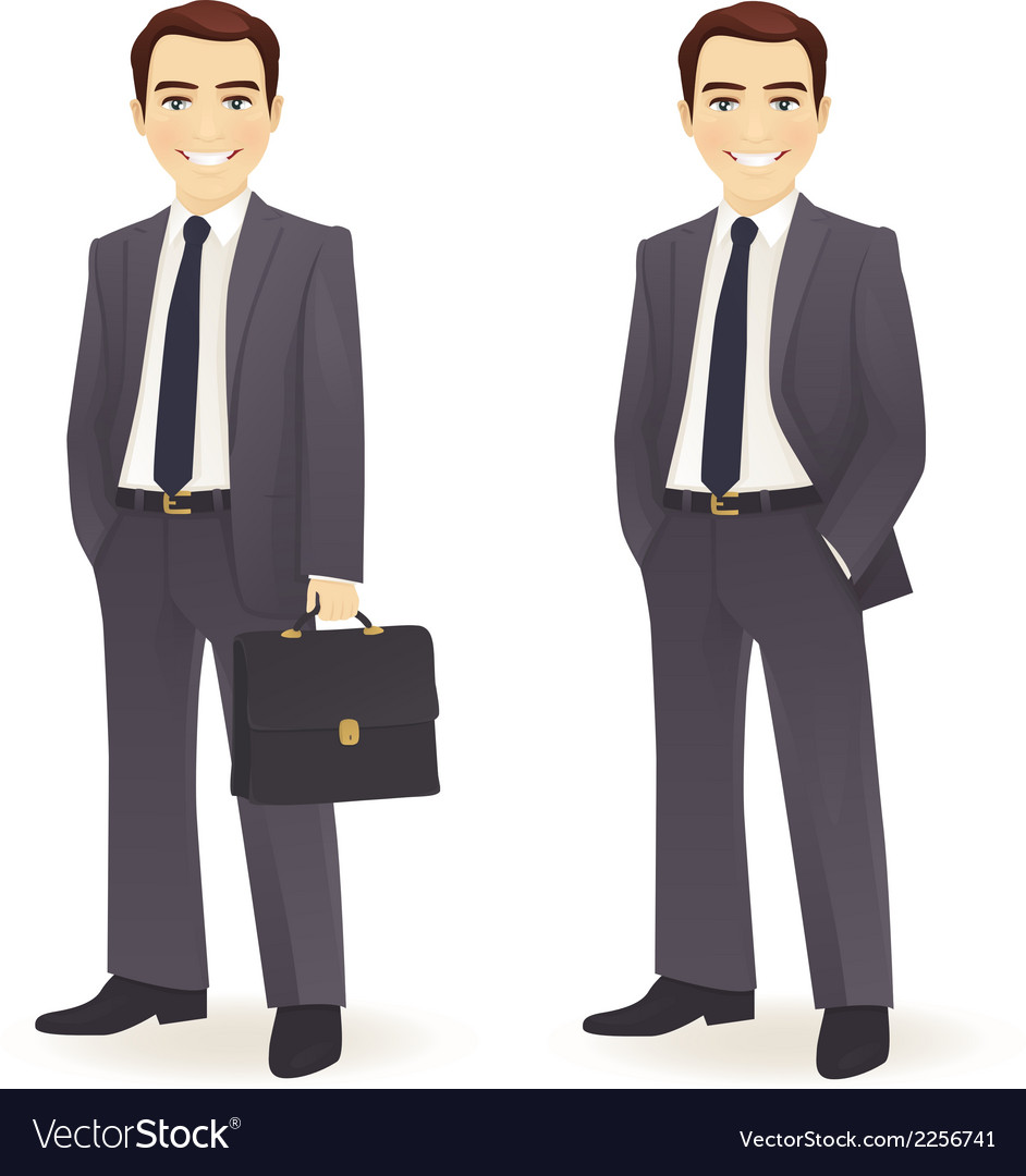 Businessman set vector | Price: 1 Credit (USD $1)