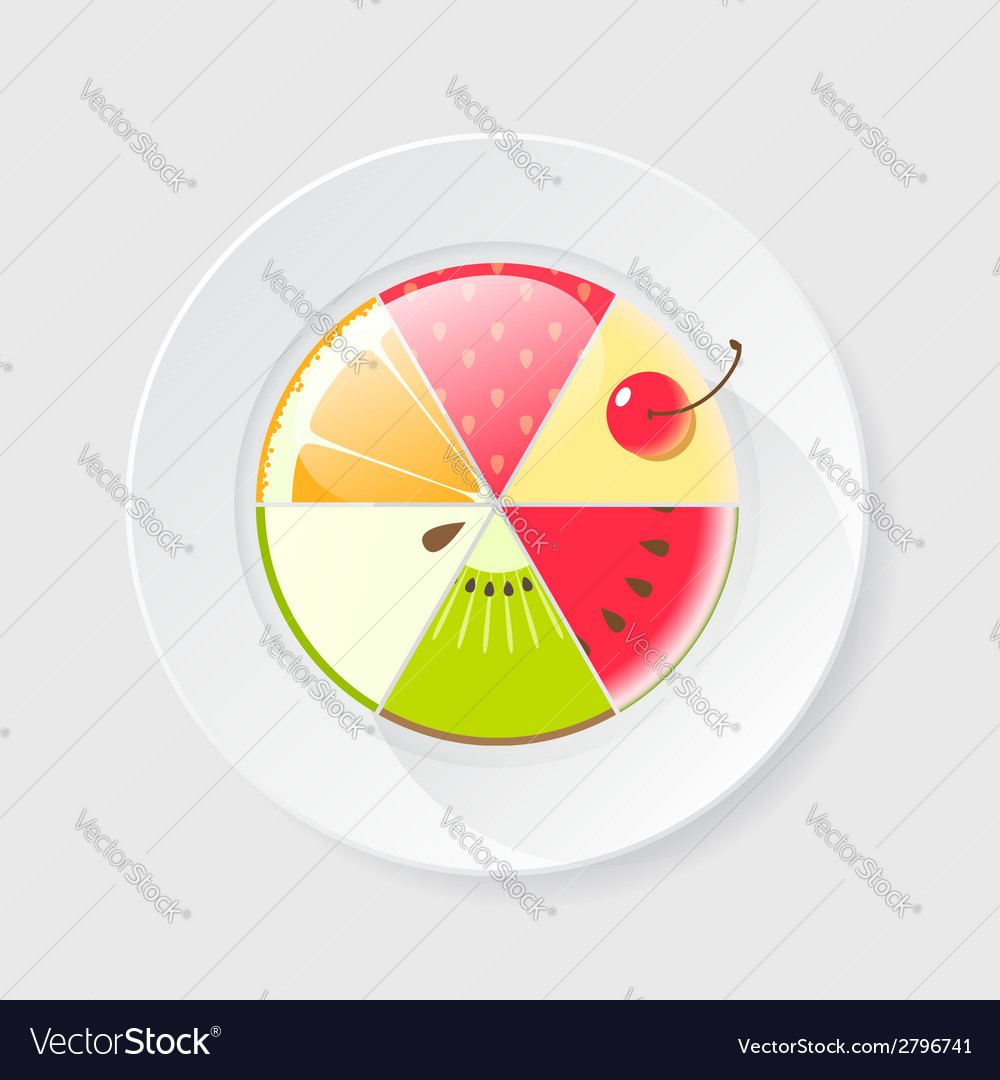 Fruit cake icon vector | Price: 1 Credit (USD $1)